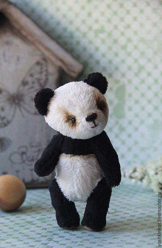 Мишки Тедди ручной работы. Ярмарка Мастеров - ручная работа. Купить Панда Стёпа. Handmade. Чёрно-белый, друзья тедди