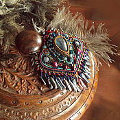Украшения handmade. Livemaster - original item Decoration necklace (pendant) johara East Labrador pearl aquamarine. Handmade.