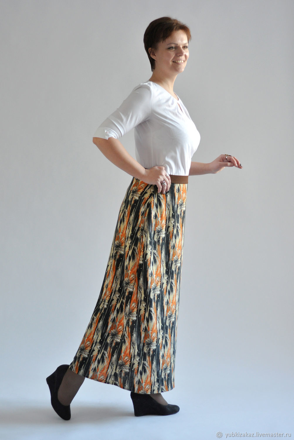 Long skirt knitted pattern – shop online on Livemaster with shipping ...