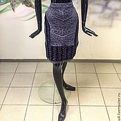 """Одежда ручной работы. Ярмарка Мастеров - ручная работа Юбка """"Каракуль с кружевом фиолет"""" эластичная, очень удобная и красивая. Handmade."""