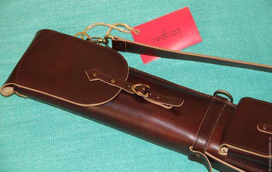 Спортивные сумки ручной работы. Ярмарка Мастеров - ручная работа. Купить Чехол для складного бильярдного кия Redbag. Handmade. Коричневый