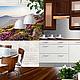 Коллаж к дизайн-проекту кухни. Коллаж - наглядная часть дизайн-проекта, позволяющая конкретизировать цветовое и стилевое решение будущего интерьера. Цветовую гамму и стилистику  данного интерьера за