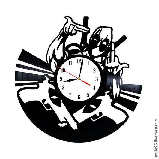 """Часы для дома ручной работы. Ярмарка Мастеров - ручная работа. Купить Часы из пластинки """"Dead Pool"""". Handmade. Dead pool"""