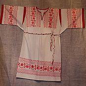Одежда ручной работы. Ярмарка Мастеров - ручная работа Покосная рубаха с плетеным поясом.. Handmade.