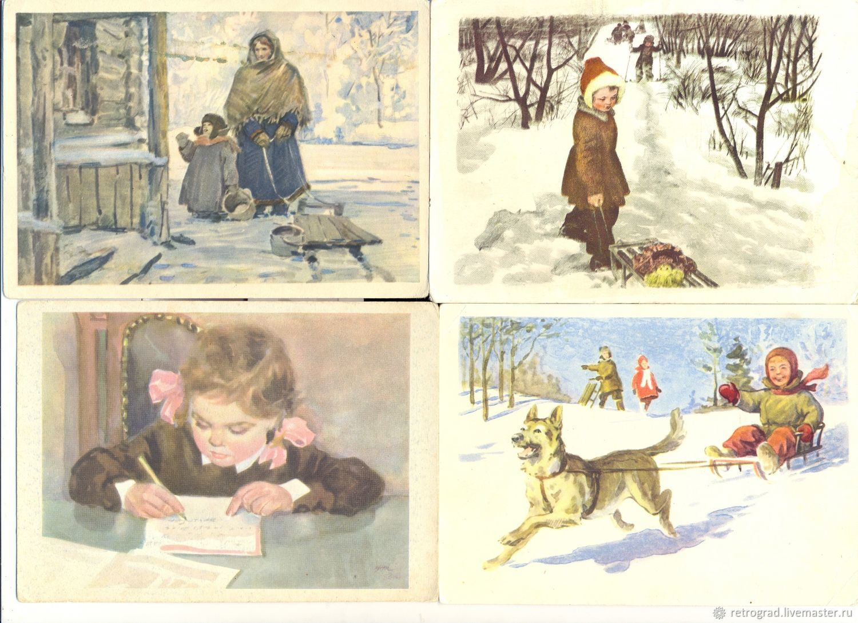 Винтаж: Дети на открытках. Соцреализм 50-е-60-е гг, Открытки винтажные, Нижний Тагил,  Фото №1