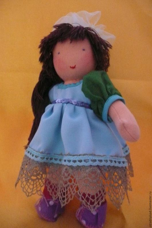 Вальдорфская игрушка ручной работы. Ярмарка Мастеров - ручная работа. Купить Шитая кукла Галя. Handmade. Вальдорфская кукла, трикотаж
