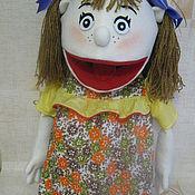 Куклы и игрушки ручной работы. Ярмарка Мастеров - ручная работа кукла на руку  в стиле маппет девочка. Handmade.