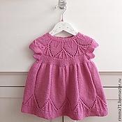 Работы для детей, ручной работы. Ярмарка Мастеров - ручная работа Платье Clara для новорожденной. Handmade.