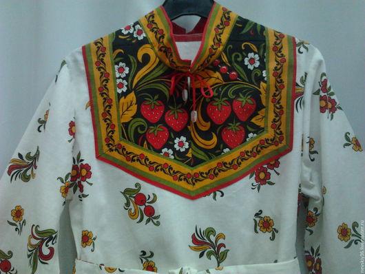 Карнавальные костюмы ручной работы. Ярмарка Мастеров - ручная работа. Купить Рубашка  Хохлома № 2. Handmade. Ярко-красный