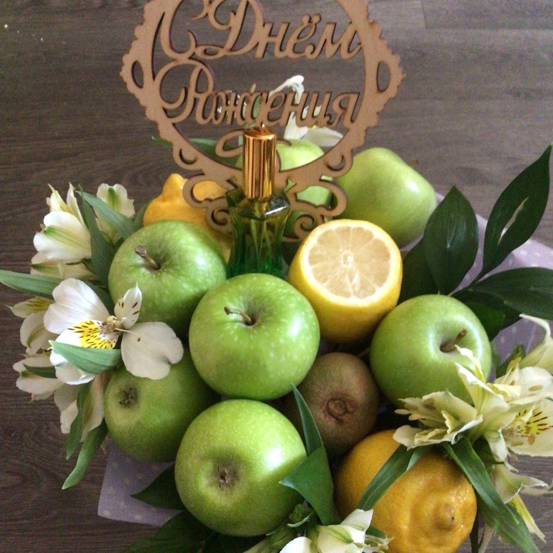 «Яблони в цвету» фруктово-парфюмерный букет, Духи, Москва,  Фото №1