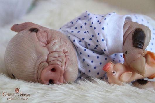 Куклы-младенцы и reborn ручной работы. Ярмарка Мастеров - ручная работа. Купить Джордж (братик Свинки Пеппы). Handmade. Бежевый