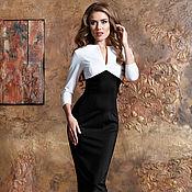 Одежда ручной работы. Ярмарка Мастеров - ручная работа Платье футляр в офисном стиле. Handmade.