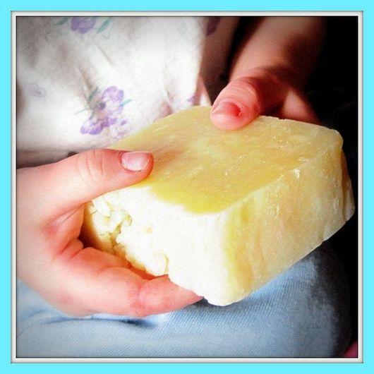 Мыло ручной работы. Ярмарка Мастеров - ручная работа. Купить детское мыло с нуля «Лучик». Handmade. Лимонный, мыло в подарок