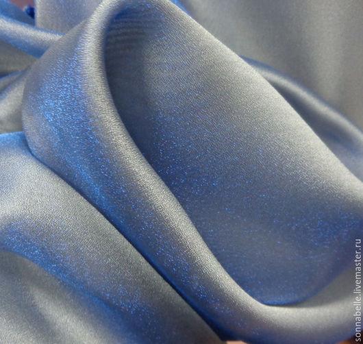 Шитье ручной работы. Ярмарка Мастеров - ручная работа. Купить Ткань тюлевая шифон Голубой с переливами. Handmade. Тюль, шторы