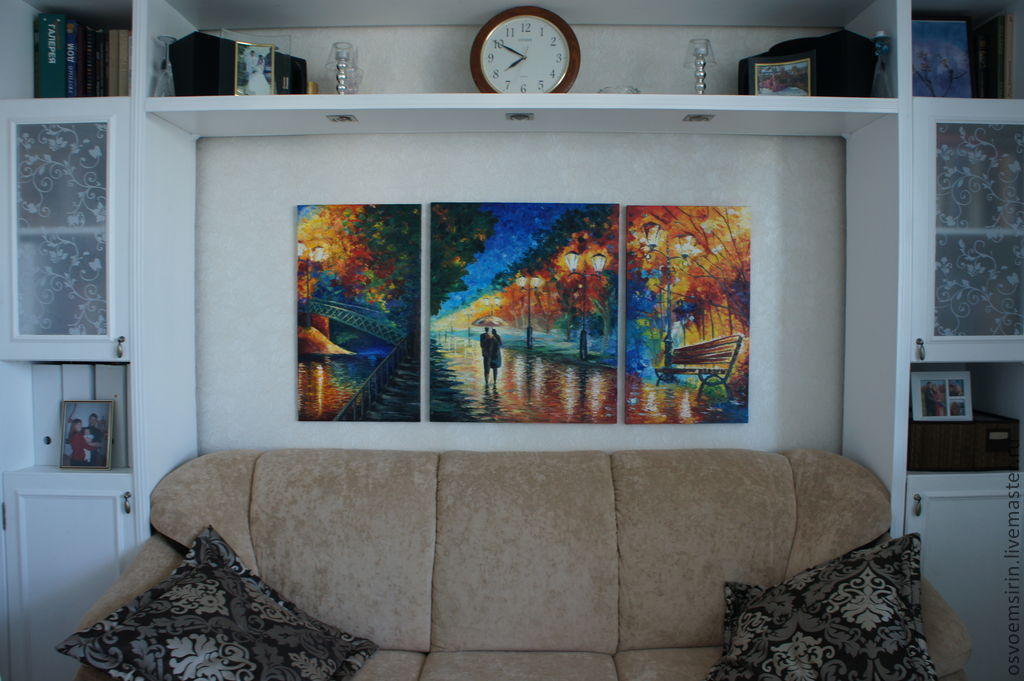 The triptych 'Fall,..', oil, Pictures, Novosibirsk,  Фото №1
