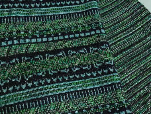 """Шитье ручной работы. Ярмарка Мастеров - ручная работа. Купить Ткань ETRO """"Орнаменты"""" изумруд. Handmade. Ткань, ткань для одежды"""