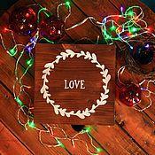 Для дома и интерьера ручной работы. Ярмарка Мастеров - ручная работа Интерьерная вывеска Love. Handmade.