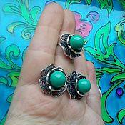 Украшения handmade. Livemaster - original item 283 set silver earrings and ring with stones. Handmade.