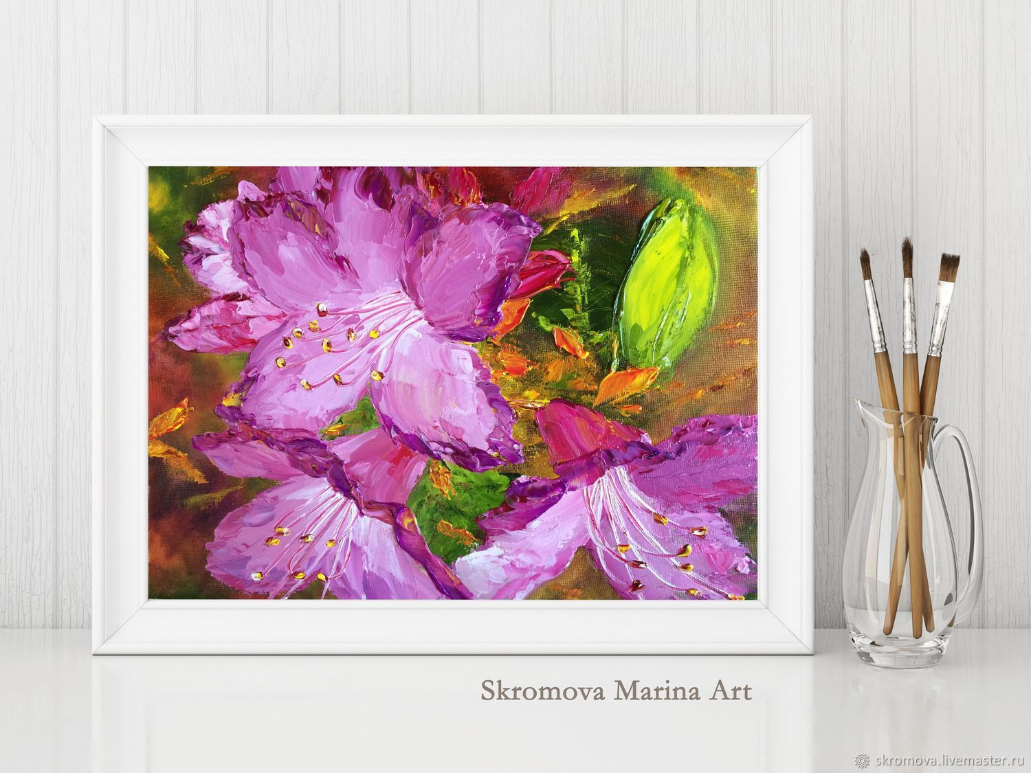 Oil painting Flowers rosemary, Pictures, Moscow,  Фото №1