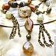 Necklace 'Goddess Diana' (agate). Necklace. Pani Kratova (panikratova). Online shopping on My Livemaster.  Фото №2