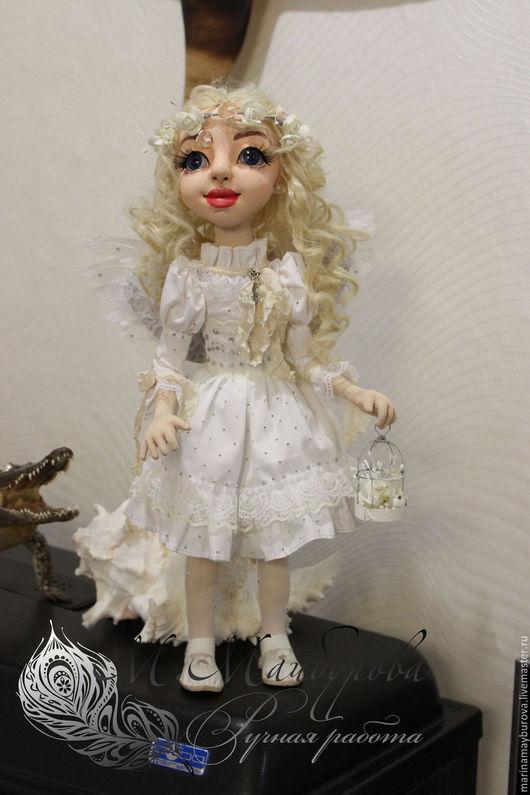Коллекционные куклы ручной работы. Ярмарка Мастеров - ручная работа. Купить Ангел. Handmade. Белый, интерьерная кукла, проволочный каркас