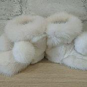 Пинетки ручной работы. Ярмарка Мастеров - ручная работа Пинетки из меха норки и кролика. Handmade.