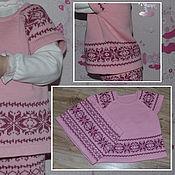 Работы для детей, ручной работы. Ярмарка Мастеров - ручная работа Комплект для девочки (юбка+жилет). Handmade.