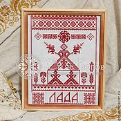 Для дома и интерьера ручной работы. Ярмарка Мастеров - ручная работа Вышивка в славянской тематике. Handmade.