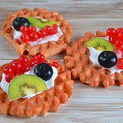 """Косметика ручной работы. Ярмарка Мастеров - ручная работа Мыло пирожное """"Венская вафля"""" с ягодами. Handmade."""