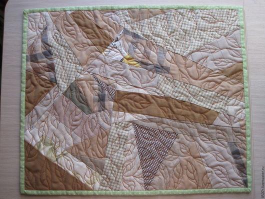 """Текстиль, ковры ручной работы. Ярмарка Мастеров - ручная работа. Купить Салфетка  """"Листья"""". Handmade. Бежевый, украшение для интерьера, квилт"""
