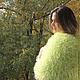 Текстиль, ковры ручной работы. ЯРКИЙ И МОХНАТЫЙ плед покрывало неоновый лимонный. Всё просто (everythingseasy). Ярмарка Мастеров.