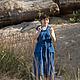 Платья ручной работы. Ярмарка Мастеров - ручная работа. Купить Платье Василёк. Handmade. Синий, бохо стиль, лён