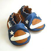 Работы для детей, handmade. Livemaster - original item Space Baby shoes, Baby moccasins, Leather baby shoes,Ebooba. Handmade.