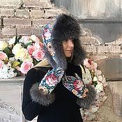 Accessories handmade. Livemaster - original item Gift girl set hat with mittens. Handmade.