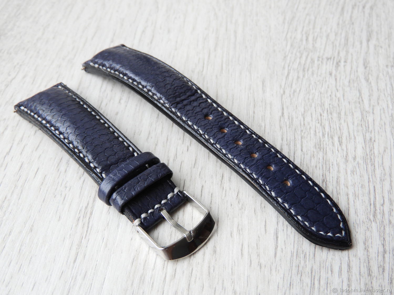 Ремешок для часов 20мм синий, Часы, Москва, Фото №1