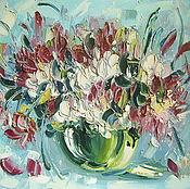 Картины и панно ручной работы. Ярмарка Мастеров - ручная работа Картина, цветы, холст, масло, 40 х 50 см.. Handmade.