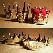 Подарки к праздникам ручной работы. Ярмарка Мастеров - ручная работа Короны большая и малая. Handmade.