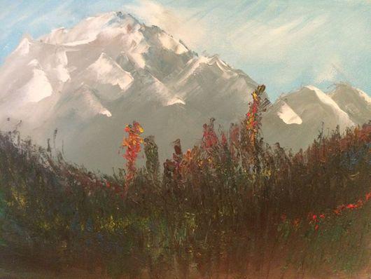 Пейзаж ручной работы. Ярмарка Мастеров - ручная работа. Купить Горы. Handmade. Пейзаж, горы, масляная живопись, масло