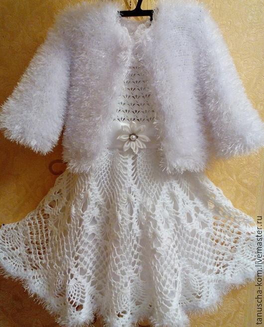 Одежда для девочек, ручной работы. Ярмарка Мастеров - ручная работа. Купить Платье  для девочки Снежная королева. Handmade. Белый