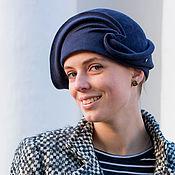 Аксессуары handmade. Livemaster - original item Hat Cloche Black sea. Handmade.