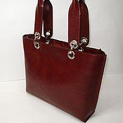 Сумки и аксессуары handmade. Livemaster - original item Women`s handbag made of Italian genuine leather color whiskey.. Handmade.