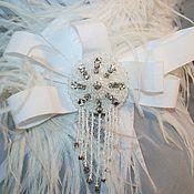 Свадебный салон ручной работы. Ярмарка Мастеров - ручная работа Брошь для свадебного наряда. Handmade.