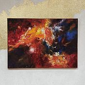 Картины и панно handmade. Livemaster - original item Cosmos oil painting abstract palette knife. Handmade.