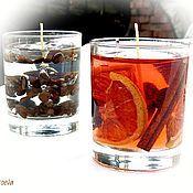 Сувениры и подарки handmade. Livemaster - original item Gel candle Orange large (Christmas candles). Handmade.