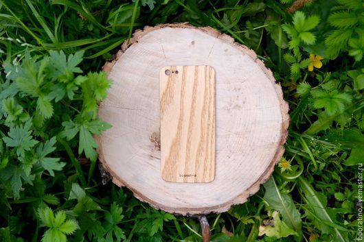 Для телефонов ручной работы. Ярмарка Мастеров - ручная работа. Купить Деревянный скин для iPhone 5 от booratino. Handmade. Коричневый