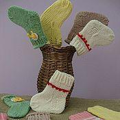 """Работы для детей, ручной работы. Ярмарка Мастеров - ручная работа Носочки """"Самые первые"""". Handmade."""