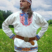 Русский стиль handmade. Livemaster - original item A Shirt Bratislav. Handmade.