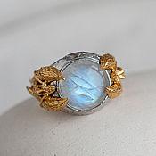 Украшения handmade. Livemaster - original item Massive silver Anahita ring with moonstone. Handmade.
