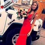 Одежда ручной работы. Ярмарка Мастеров - ручная работа Платье Русалка красная. Handmade.