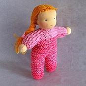Куклы и игрушки ручной работы. Ярмарка Мастеров - ручная работа вязаная вальдорфская кукла 20 см. Handmade.